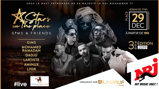 Stars in The Place : Gims & Friends se produiront à Jemaa El Fnaa le 29 décembre